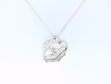 Mother and Baby Angel Pendant