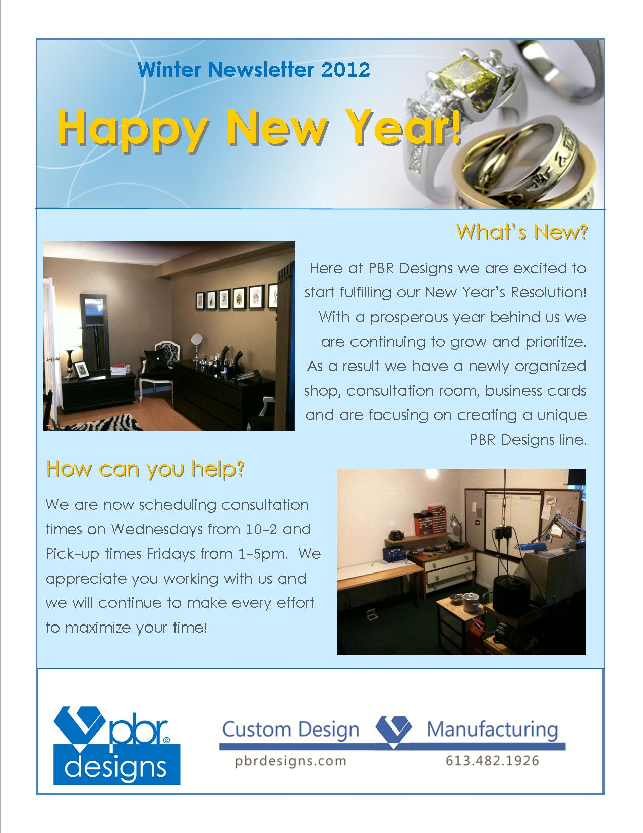 Winter Newsletter 2012